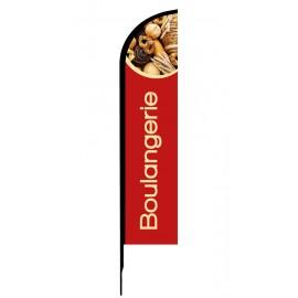 Boulangerie - Drapeau publicitaire oriflamme double faces