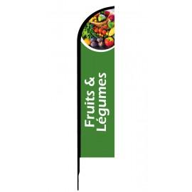 Fruit & Légumes - Drapeau publicitaire oriflamme double faces