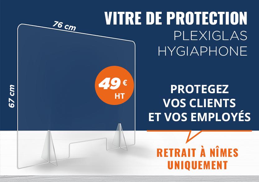 PROTECTION PLEXIGLASS HYGIAPHONE